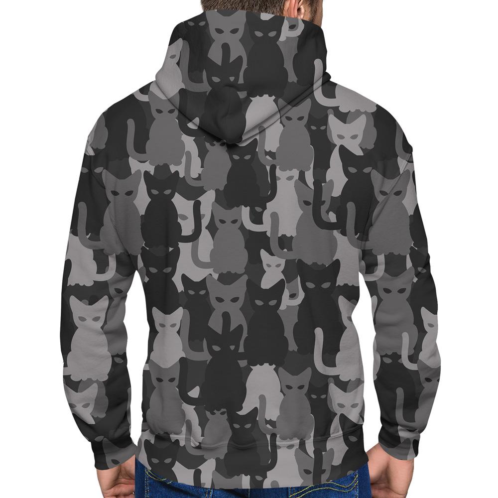 Catmouflage Grey Hoodie