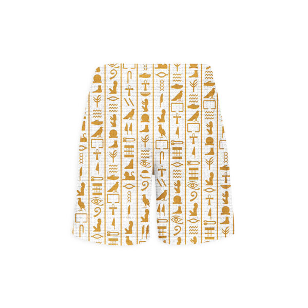 Hieroglyphs-White-shorts-back