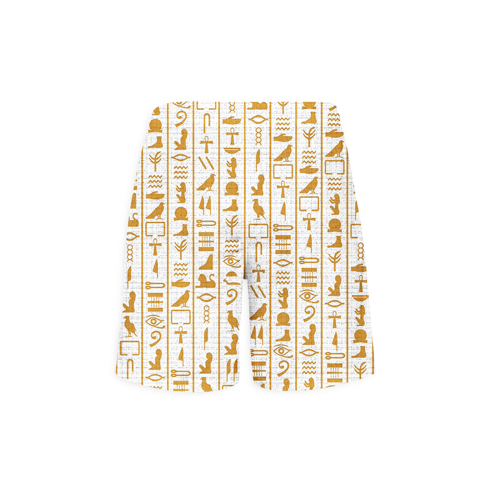 Hieroglyphs-White-shorts-back