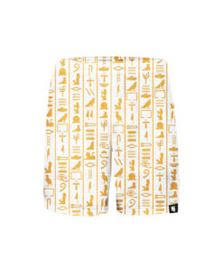 Hieroglyphs-White-shorts-front-1
